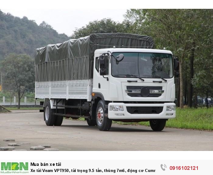 Xe tải Veam VPT950, tải trọng 9.5 tấn, thùng 7m6, động cơ Cummin Euro 4