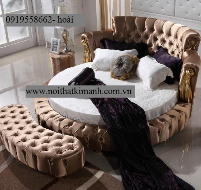 [14] Những mẫu giường tròn đẹp bọc nệm giá rẻ dưới 15 triệu