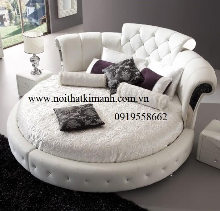 [16] Những mẫu giường tròn đẹp bọc nệm giá rẻ dưới 15 triệu