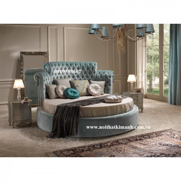 [19] Những mẫu giường tròn đẹp bọc nệm giá rẻ dưới 15 triệu