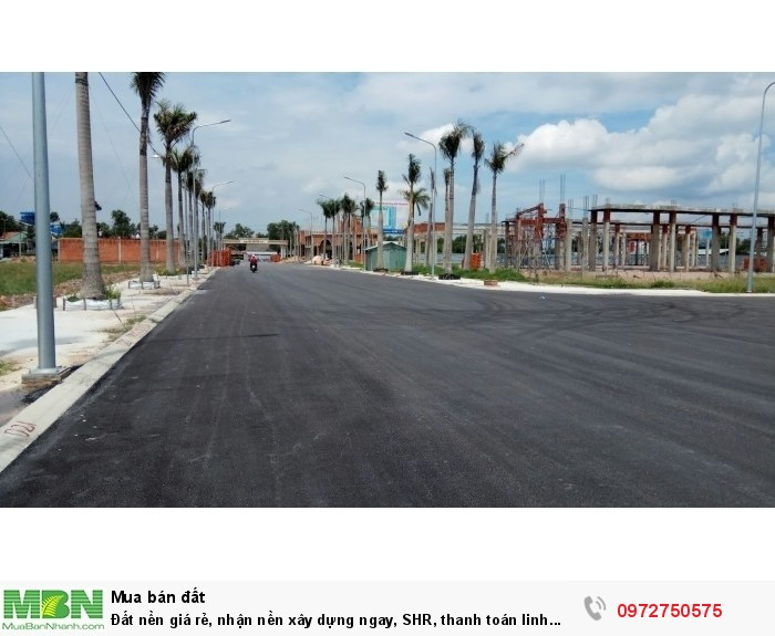 Đất nền giá rẻ, nhận nền xây dựng ngay, SHR, thanh toán linh hoạt