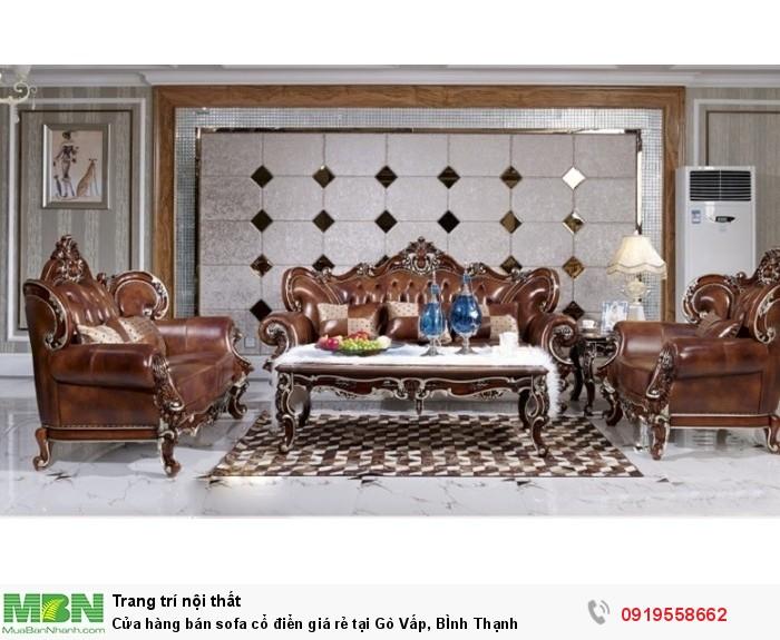 Cửa hàng bán sofa cổ điển giá rẻ tại Gò Vấp, BÌnh Thạnh