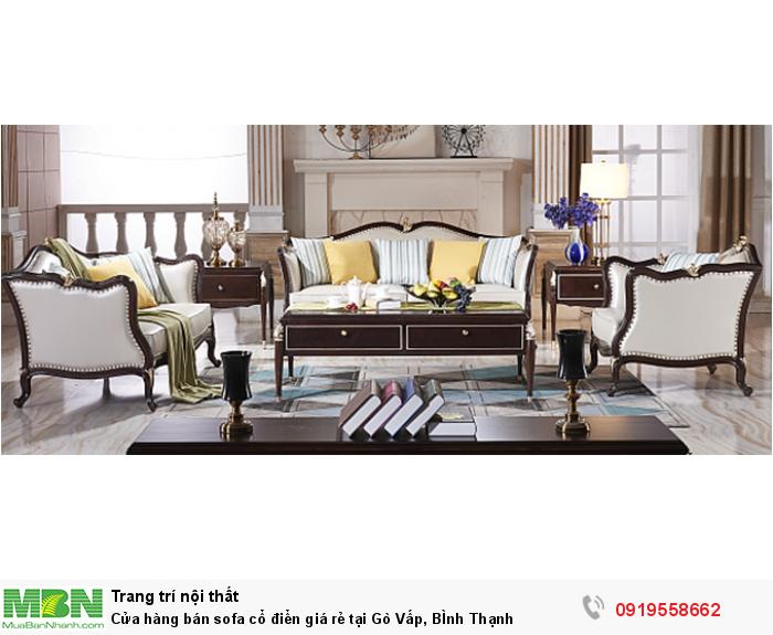 [5] Cửa hàng bán sofa cổ điển giá rẻ tại Gò Vấp, BÌnh Thạnh