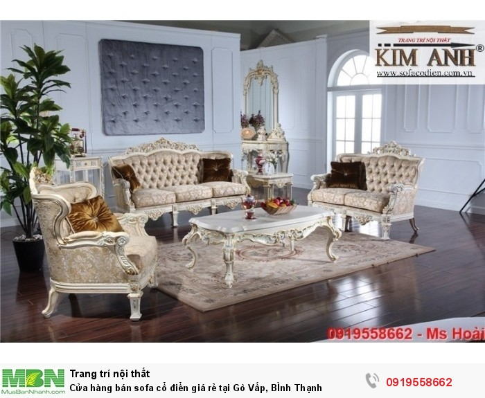 [7] Cửa hàng bán sofa cổ điển giá rẻ tại Gò Vấp, BÌnh Thạnh