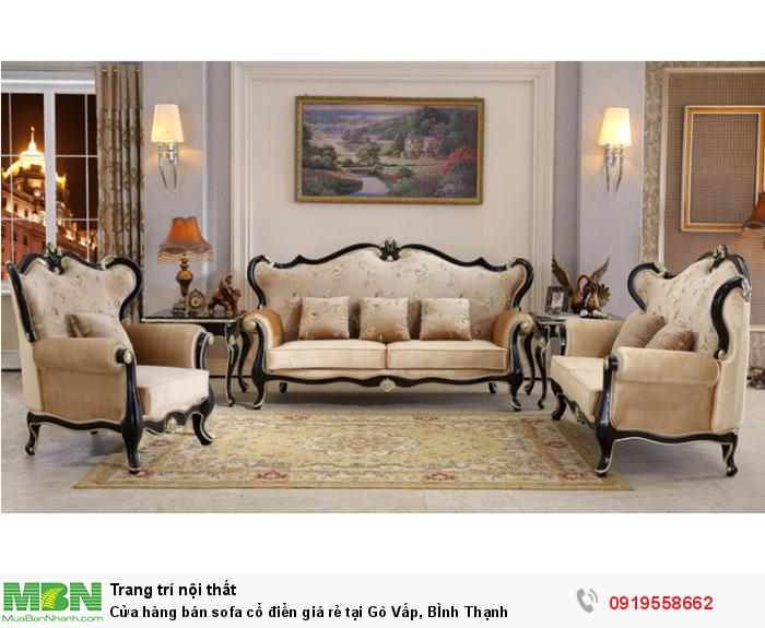 [14] Cửa hàng bán sofa cổ điển giá rẻ tại Gò Vấp, BÌnh Thạnh