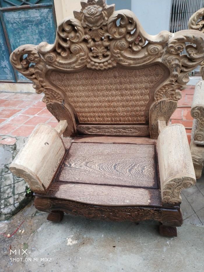 Bộ bàn ghế đồng kỵ kiểu hoàng gia gỗ mun đuôi công11