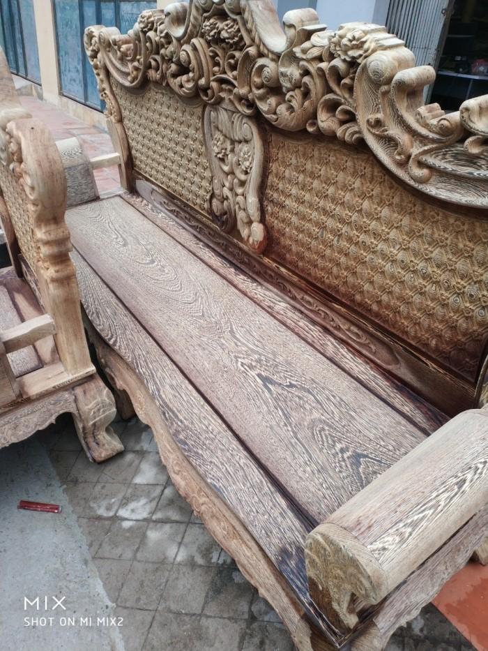 Bộ bàn ghế đồng kỵ kiểu hoàng gia gỗ mun đuôi công12