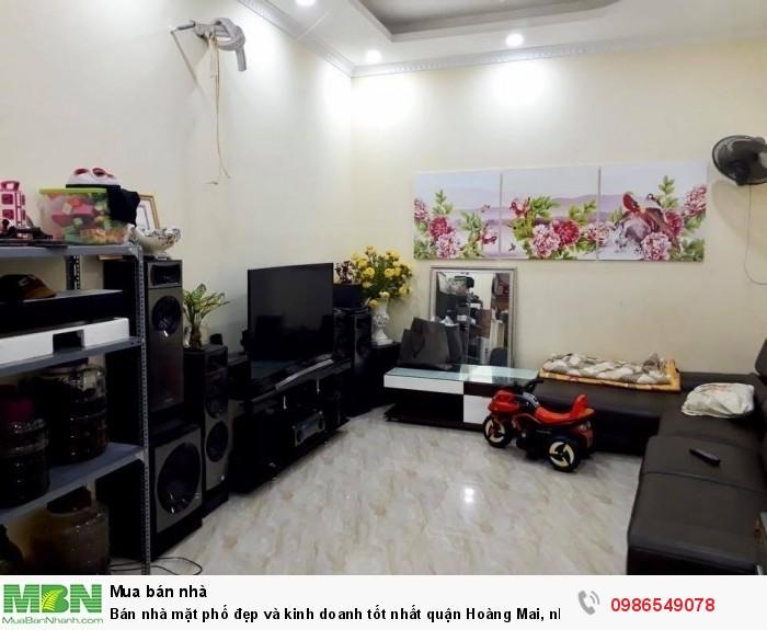 Bán nhà mặt phố đẹp và kinh doanh tốt nhất quận Hoàng Mai, nhà phố Kim Đống, 120m2x4T