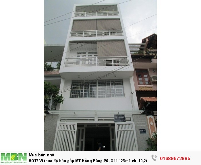 HOT! Vì thua độ bán gấp MT Hồng Bàng,P6, Q11 125m2