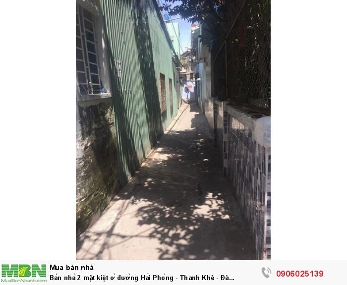 Bán nhà 2 mặt kiệt ở đường Hải Phòng - Thanh Khê - Đà Nẵng