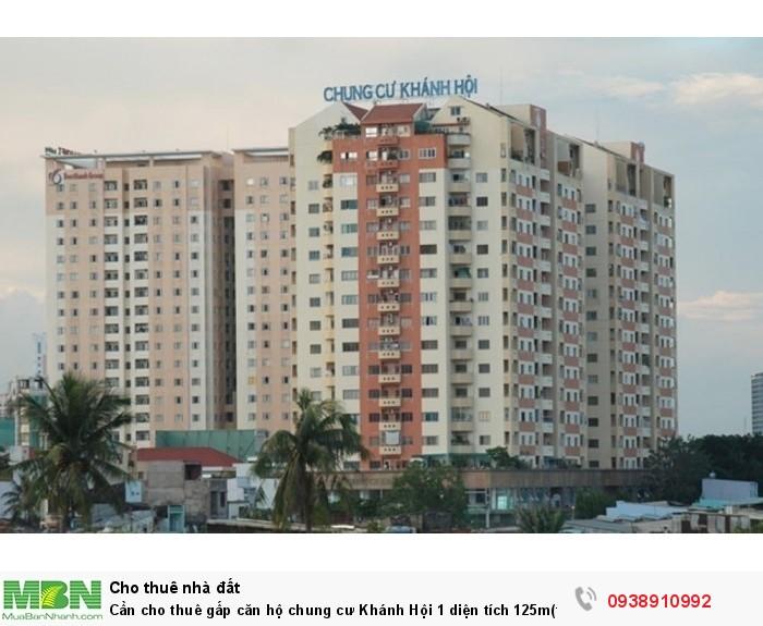 Cần cho thuê gấp căn hộ chung cư Khánh Hội 1 diện tích 125m(thông tầng),giá thuê 800 USD/TH