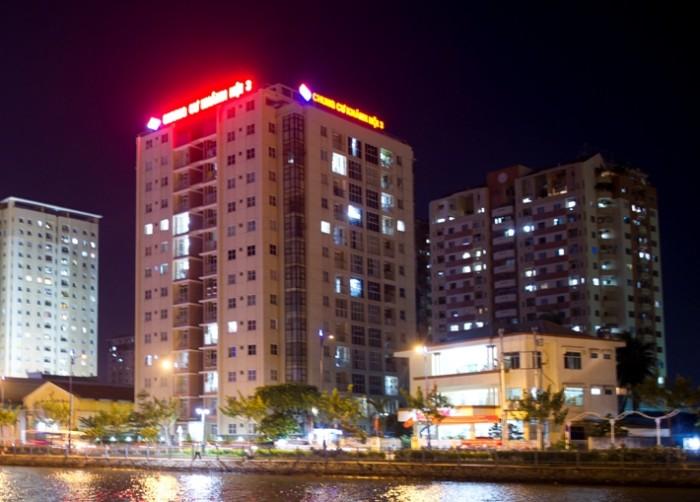Cần cho thuê gấp căn hộ  Khánh Hội 3 Q4, Dt 75m2,  giá thuê 15tr/th .