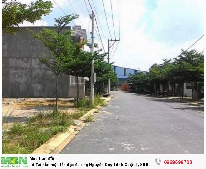 Lô đất nền mặt tiền đẹp đường Nguyễn Duy Trinh Quận 9, SHR