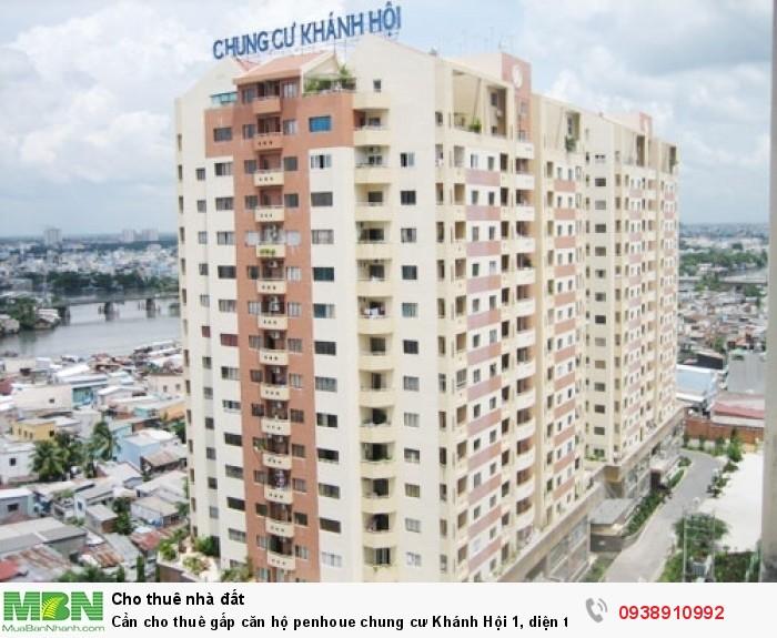 Cần cho thuê gấp căn hộ penhoue chung cư Khánh Hội 1, diện tích 125m,3pn,3wc,giá thuê 800 USD/TH