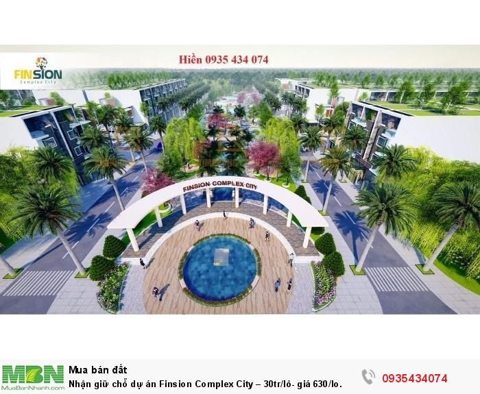 Nhận giữ chỗ dự án Finsion Complex City