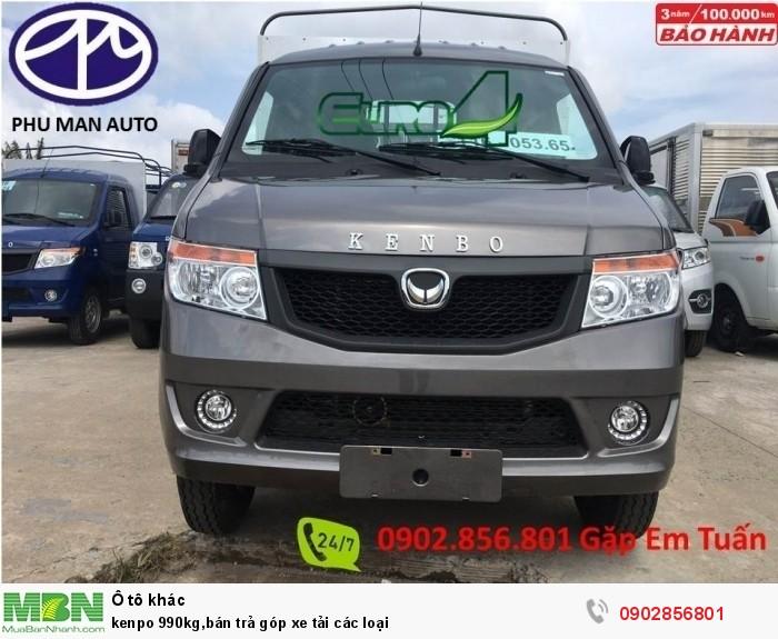kenpo 990kg,bán trả góp xe tải các loại 0