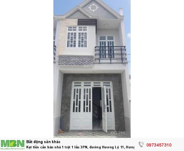 Bán nhà 1 trệt 1 lầu 3PN, đường Hương Lộ 11, Hưng Long, FULL NÔỊ THẤT