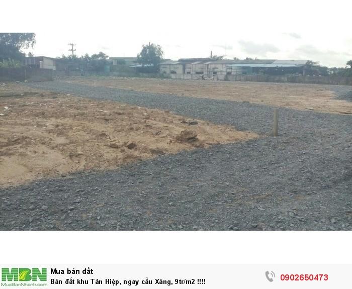 Bán đất khu Tân Hiệp, ngay cầu Xáng, 9tr/m2 !!!!