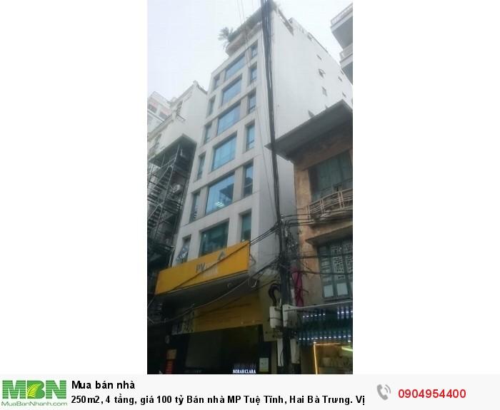 250m2, 4 tầng, giá 100 tỷ Bán nhà MP Tuệ Tĩnh, Hai Bà Trưng. Vị trí cực đẹp.