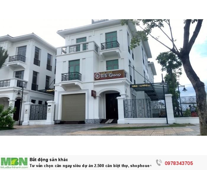 Tư vấn chọn căn ngay siêu dự án 2.500 căn biệt thự, shophoue với biển hồ 40ha VinCity Gia Lâm, HN