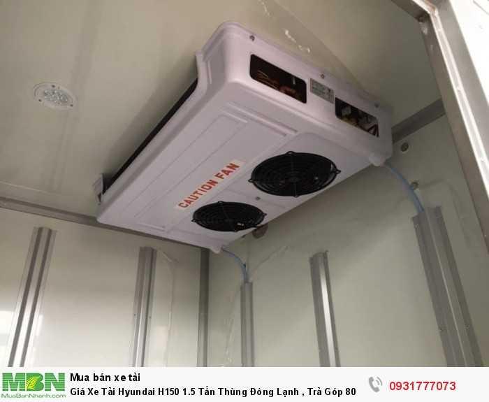 Giá xe tải Hyundai H150 1.5 tấn thùng đông lạnh - hỗ trợ đăng ký ra biền  số các tỉnh