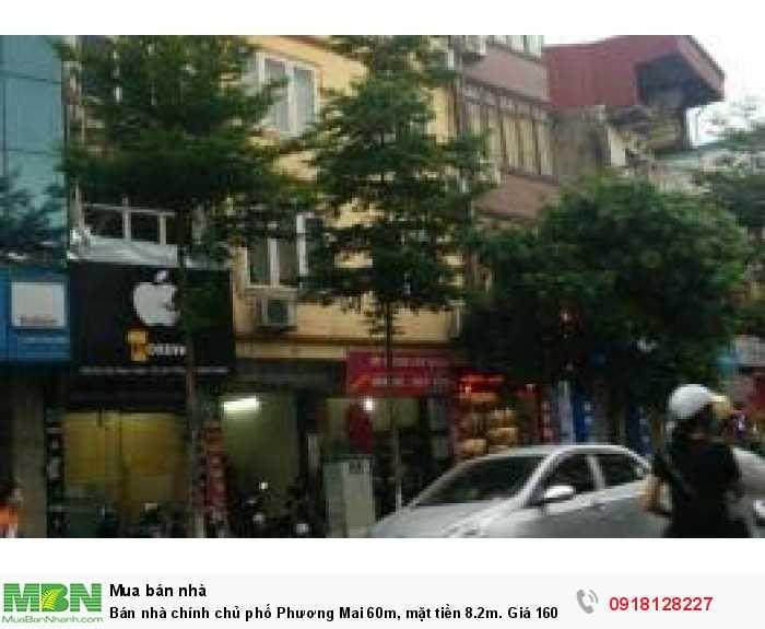 Bán nhà chính chủ phố Phương Mai 60m, mặt tiền 8.2m. Giá 160tr/m