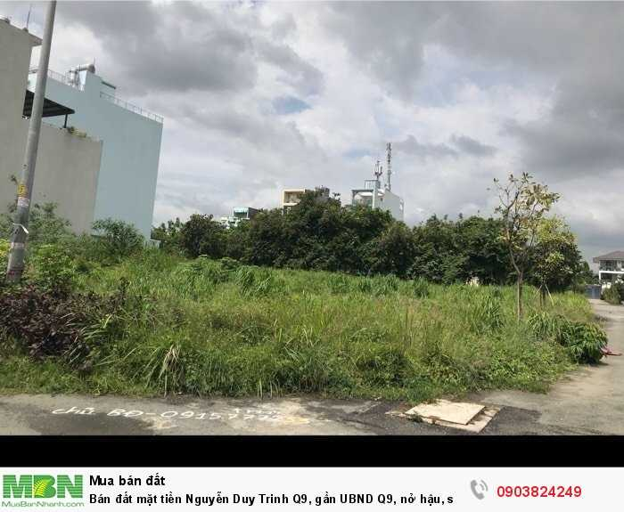 Bán đất mặt tiền Nguyễn Duy Trinh Q9, gần UBND Q9, nở hậu, sổ đỏ, 128m2
