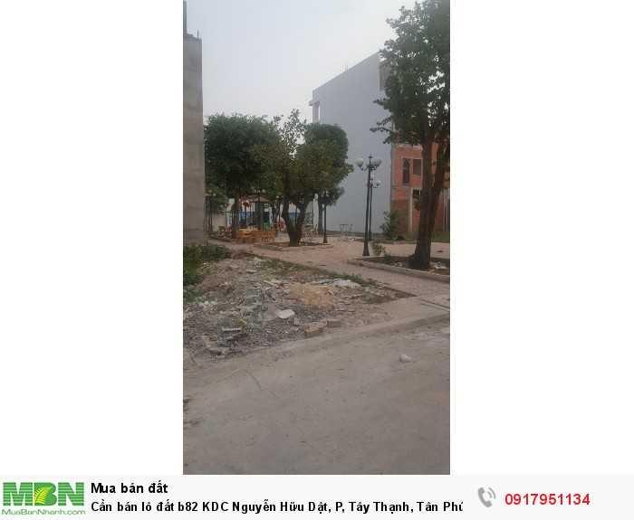 Cần bán lô đất b82 KDC Nguyễn Hữu Dật, P, Tây Thạnh, Tân Phú, sổ hồng riêng.