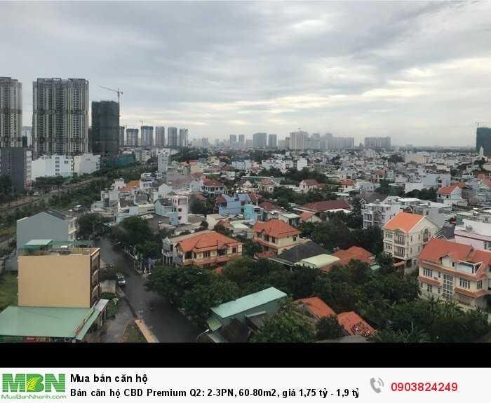 Bán căn hộ CBD Premium Q2: 2-3PN, 60-80m2, nhà mới đẹp