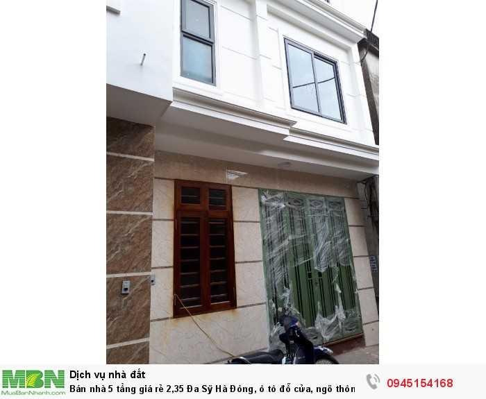 Bán nhà 5 tầng, Đa Sỹ  Hà Đông, ô tô đỗ cửa, ngõ thông, có thể kinh doanh buôn bán nhỏ lẻ.