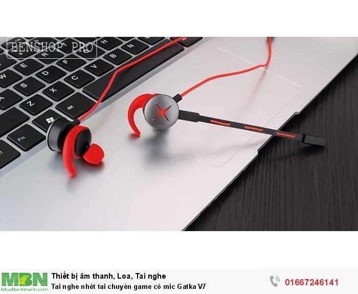 Tai nghe nhét tai chuyên game có mic Gatka V70