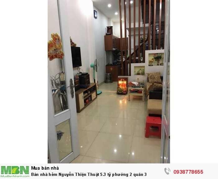 Bán nhà hẻm Nguyễn Thiện Thuật  phường 2 quân 3