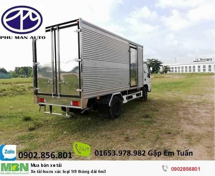Xe tải Isuzu các loại 1t9 thùng dài 4m3 1