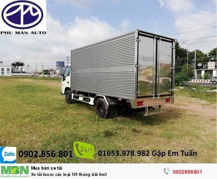 Xe tải Isuzu các loại 1t9 thùng dài 4m3 2