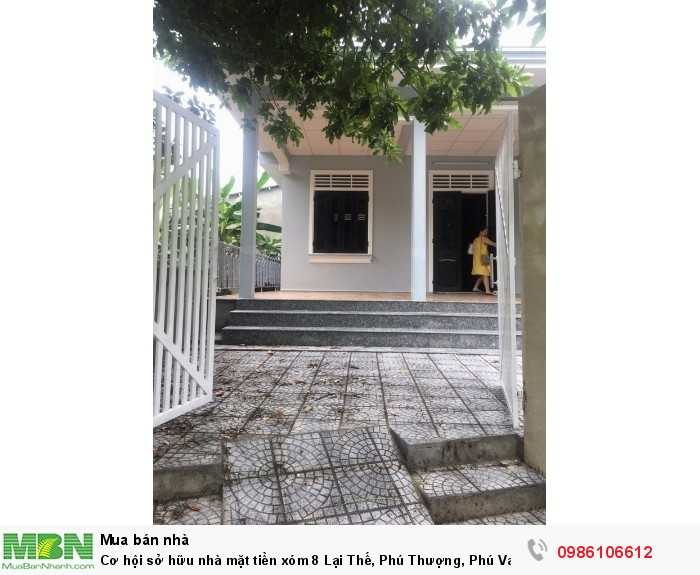 Cơ hội sở hữu nhà mặt tiền xóm 8 Lại Thế, Phú Thượng, Phú Vang, hướng Nam