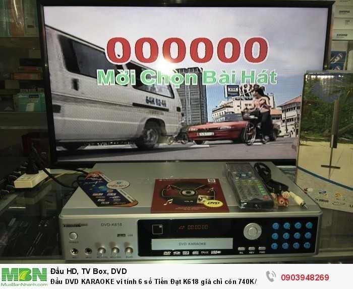 Đầu DVD KARAOKE 6 số Tiến Đạt K618 gái 740K Hàng mới 100%, chính hãng 100% Bảo hành 12 tháng Giao hàng tận nơi miễn phí