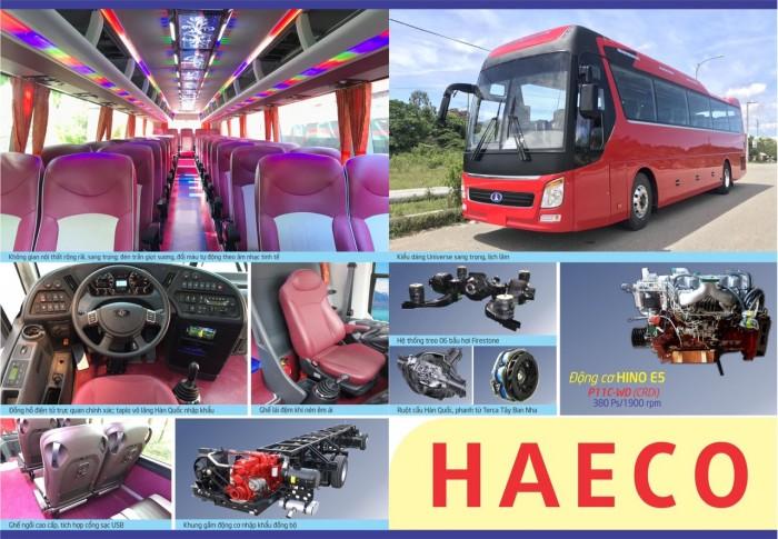 Xe khách Universe Haeco 47 chỗ, giao xe sớm, hỗ trợ vay ngân hàng