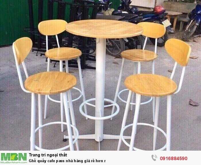 Ghế quầy cafe pass nhà hàng giá rẻ hơn r0