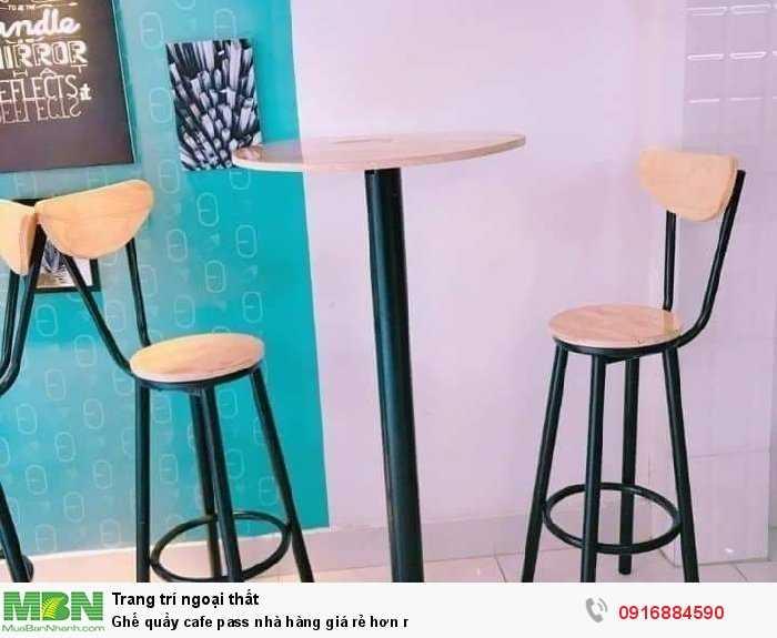 Ghế quầy cafe pass nhà hàng giá rẻ hơn r1
