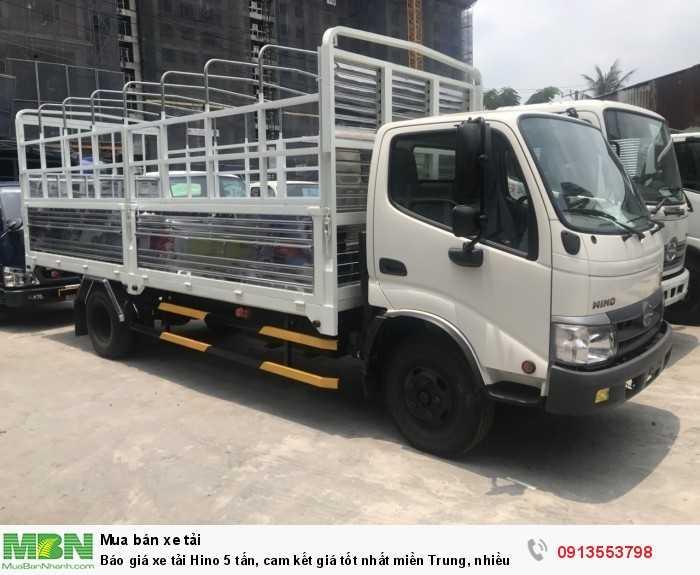 Báo giá xe tải Hino 5 tấn nâng tải mới nhất - ưu đãi lớn trong tháng gọi  ngay 0913 553 798.