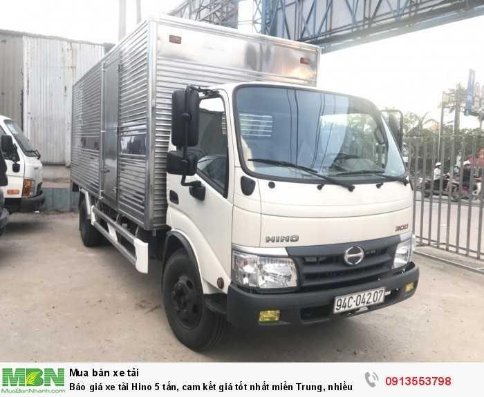 Báo giá xe tải Hino 5 tấn, cam kết giá tốt nhất miền Trung, nhiều ưu đãi hấp dẫn trong tháng