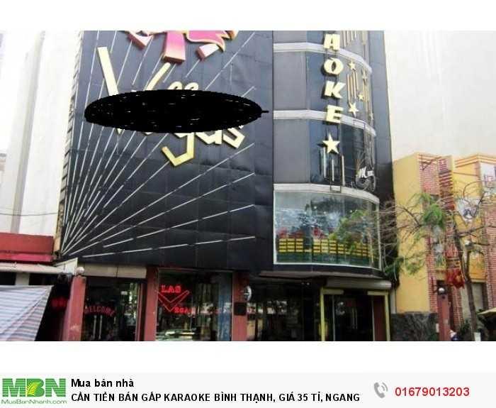 Cần Tiền Bán Gấp Karaoke Bình Thạnh, Ngang 15.2*34.7