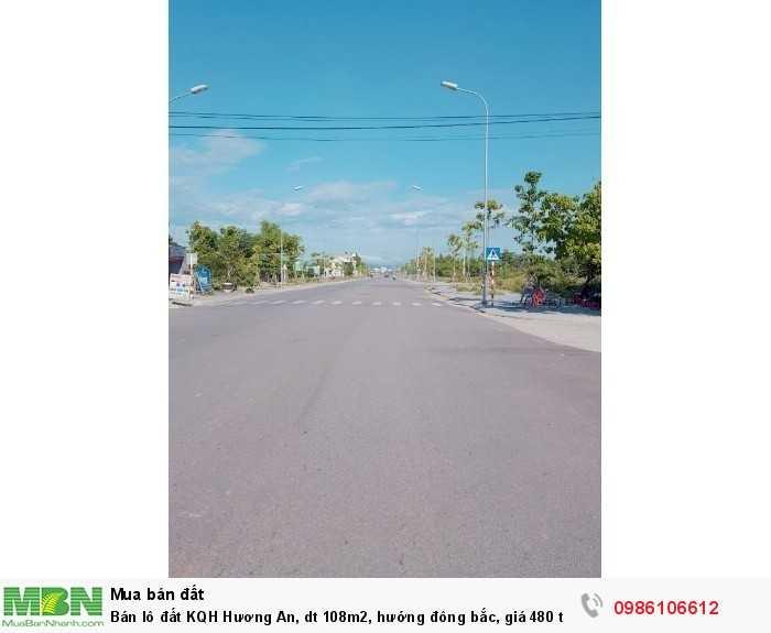 Bán lô đất KQH Hương An, dt 108m2, hướng đông bắc, giá 480 triệu