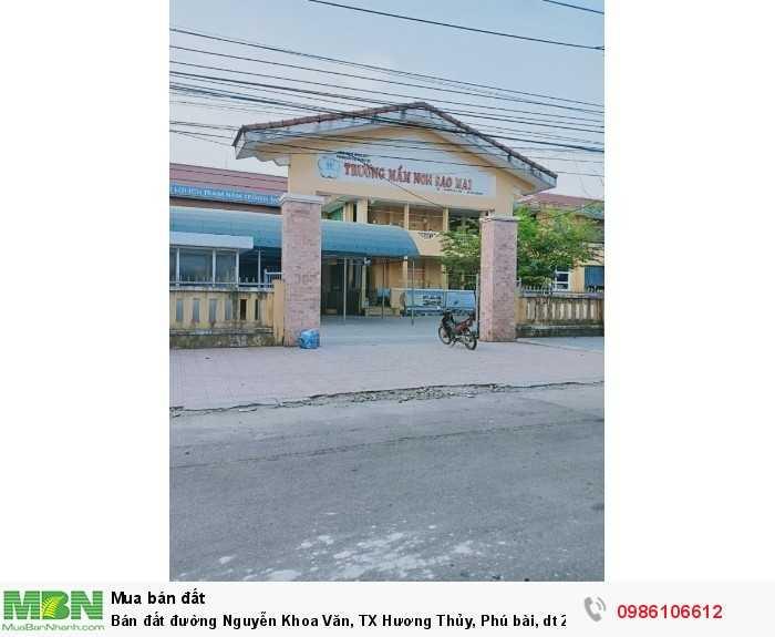 Bán đất đường Nguyễn Khoa Văn, TX Hương Thủy, Phú bài, dt 257m2, giá 770 triệu