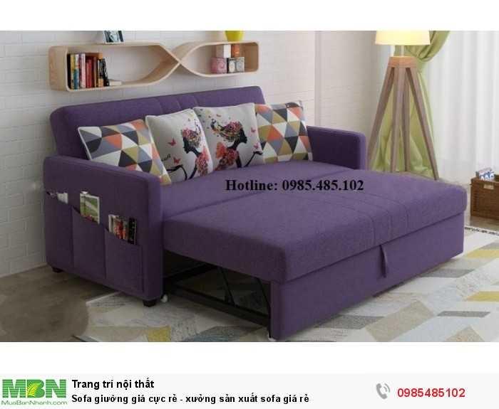Sofa giường giá cực rẻ - xưởng sản xuất sofa giá rẻ0