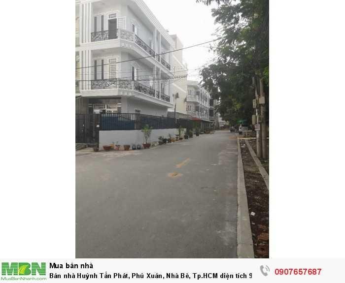 Bán nhà Huỳnh Tấn Phát, Phú Xuân, Nhà Bè, Tp.HCM diện tích 90m2, trệt 3 lầu