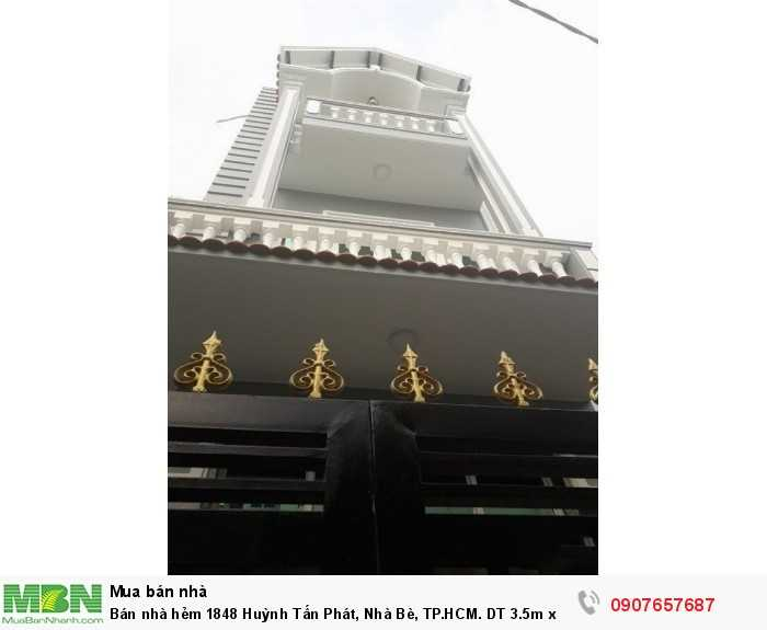 Bán nhà hẻm 1848 Huỳnh Tấn Phát, Nhà Bè, TP.HCM. DT 3.5m x 12m, trệt 2 lầu