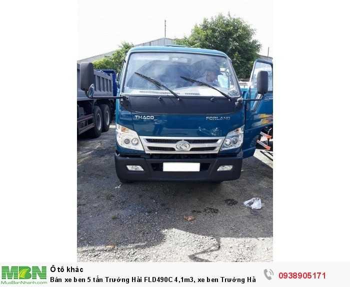 Bán xe ben 5 tấn Trường Hải FLD490C 4,1m3, xe ben Trường Hải có hỗ trợ trả góp 0