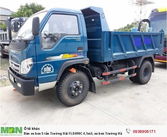 Bán xe ben 5 tấn Trường Hải FLD490C 4,1m3, xe ben Trường Hải có hỗ trợ trả góp 2
