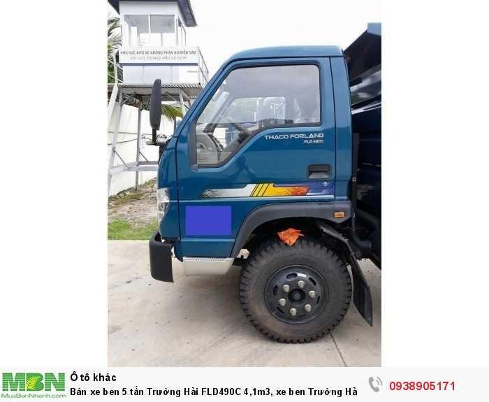 Bán xe ben 5 tấn Trường Hải FLD490C 4,1m3, xe ben Trường Hải có hỗ trợ trả góp 5
